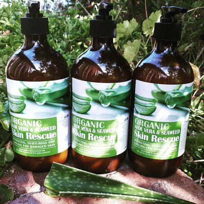 Aloe Vera and seaweed skin rescue